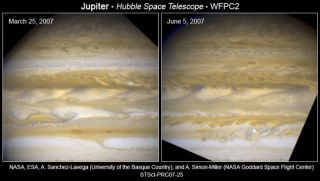 Hubble Watches As Jupiter Changes Stripes