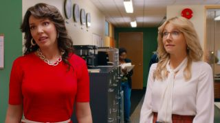Katherine Heigl (left) as Tully and Sarah Chalke as Kate in Netflix's 'Firefly Lane'