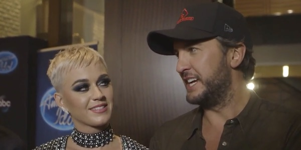 Katy Perry and Luke Bryan doing promo for American Idol