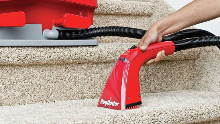 the best carpet cleaner: Rug Doctor Spot Portable Cylinder Carpet Cleaner