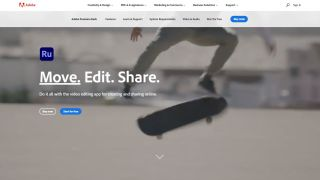 Adobe Premiere Rush Website