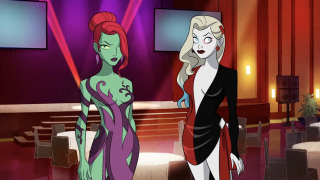 This Harley Quinn season 3 still, with Poison Ivy and Harley, was revealed at DC Fandome
