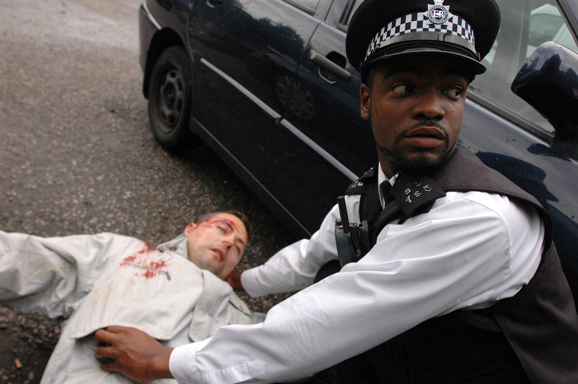 It's Pc Benjamin Gayle's first day