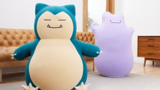 Pokemon Snorlax and Ditto giant bean bag cushions