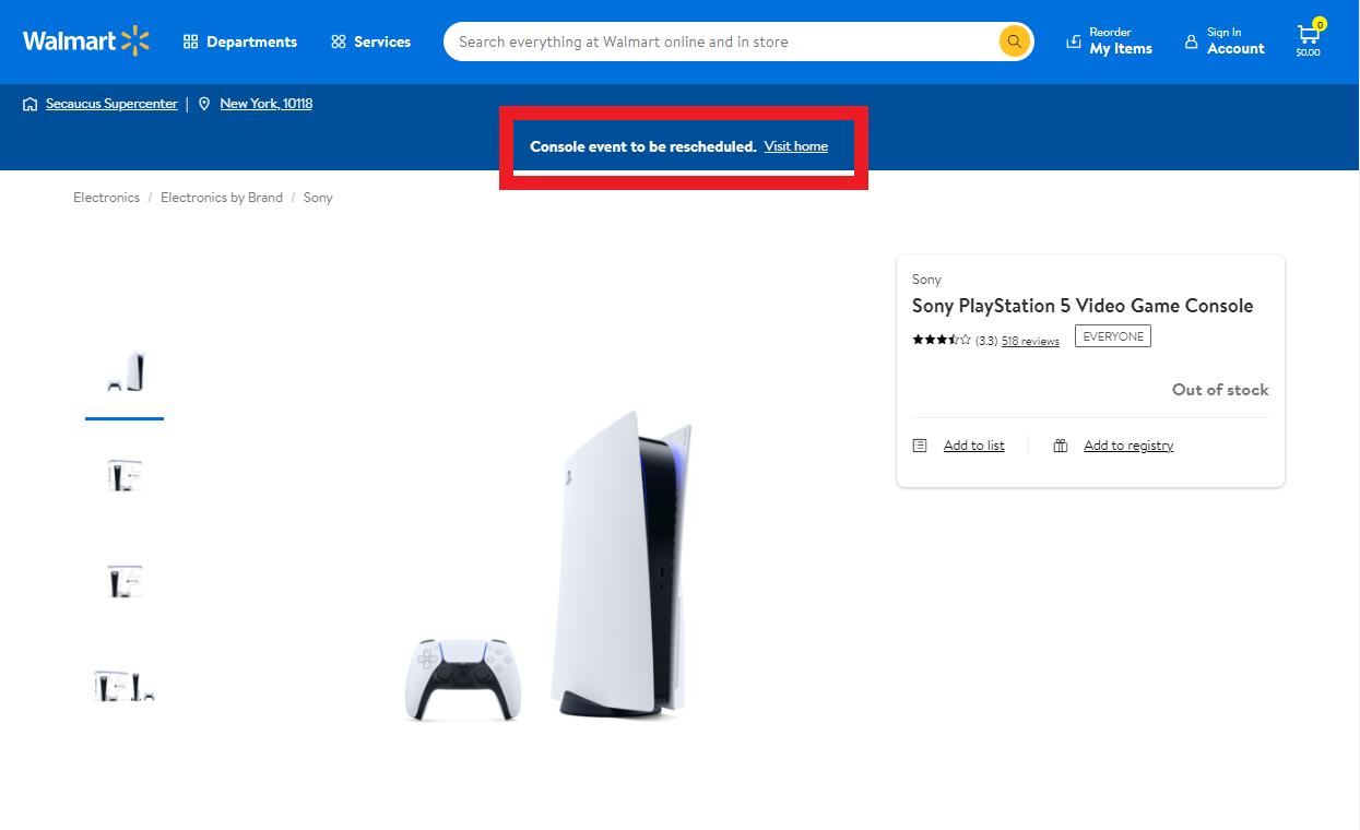 Réapprovisionnement Walmart PS5 et Xbox Series X reprogrammé