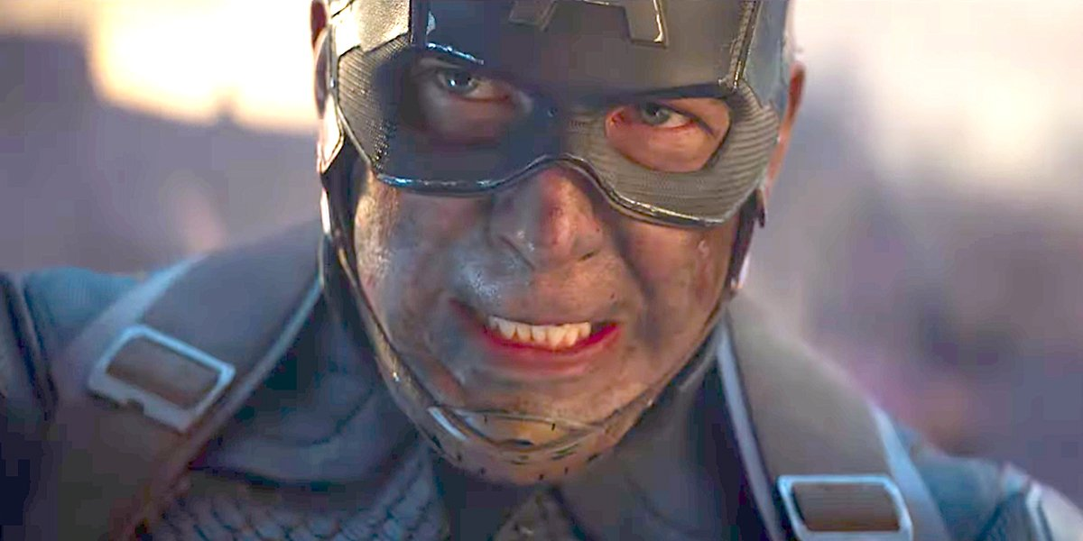 Captain America looks intense in Avengers: Endgame