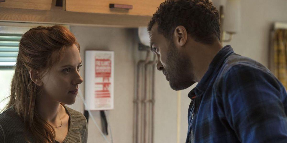 O-T Fagbenle and Scarlett Johansson in Black Widow
