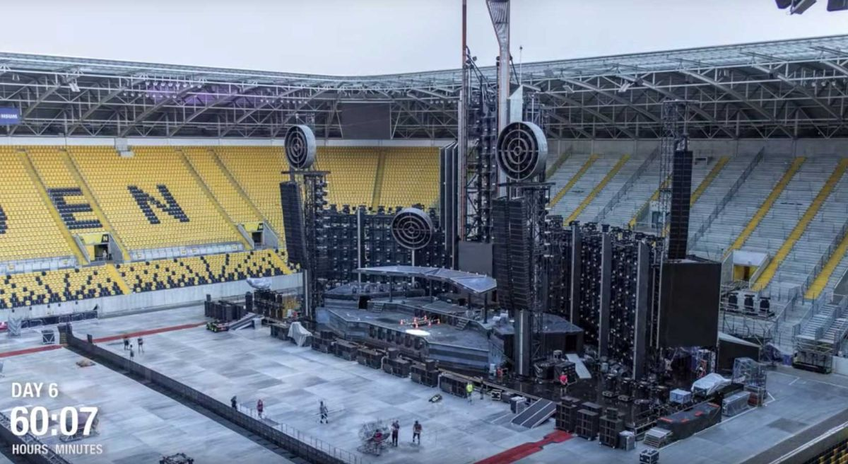 Rammstein launch spectacular time-lapse stage construction video