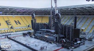 Rammstein stage set