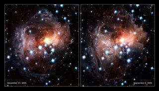 smashed planets dust cloak supermassive black holes