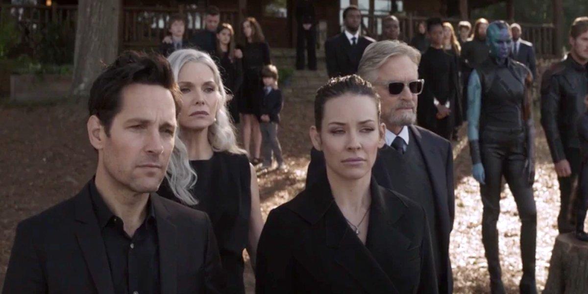 Avengers: Endgame Ant-Man team attends Tony Stark funeral