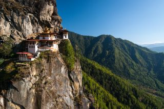 Taktshang (Tiger's Nest) monastery in Bhutan. Image: Whitworth Images/Getty Images