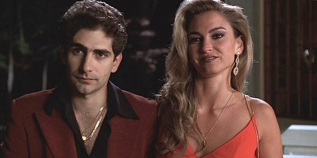 Adriana with Christopher in The Sopranos.
