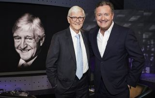 Michael Parkinson and Piers Morgan