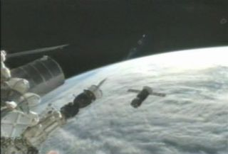Russian Progress 47 cargo ship tests new automated docking system.