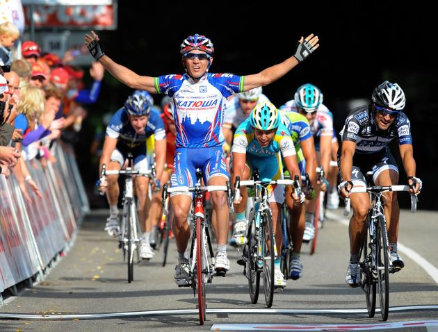 Robbie McEwen wins, stage one, Eneco Tour 2010
