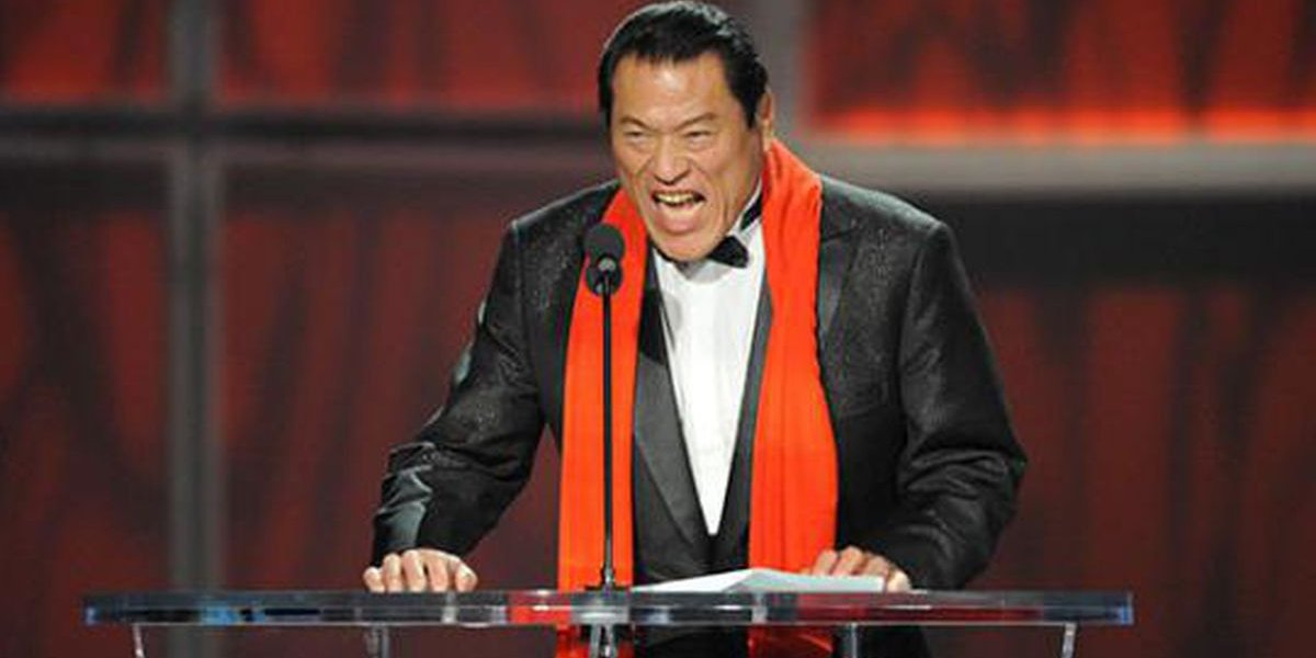 Antonio Inoki at the WWE Hall of Fame Induction Ceremony