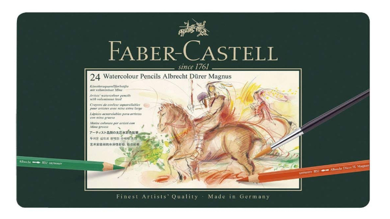 Watercolour pencils: set of 24 Faber-Castell Albrecht Durer Magnus pencils