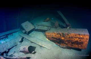Crates on board the shipwreck may hold the lost furnishings of the Amber Room, which was looted from a Russian palace by invading German soldiers in 1941.