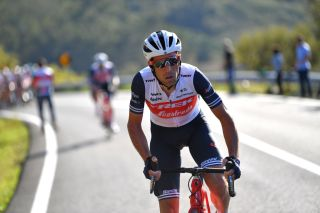ALTO DO MALHO LOUL PORTUGAL FEBRUARY 22 Vincenzo Nibali of Italy and Team Trek Segafredo during the 46th Volta ao Algarve 2020 Stage 4 a 1697km stage from Albufeira to Alto do Malho 518m Loul VAlgarve2020 on February 22 2020 in Alto do Malho Loul Portugal Photo by Tim de WaeleGetty Images