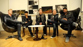 A picture of Metallica with Lou Reed
