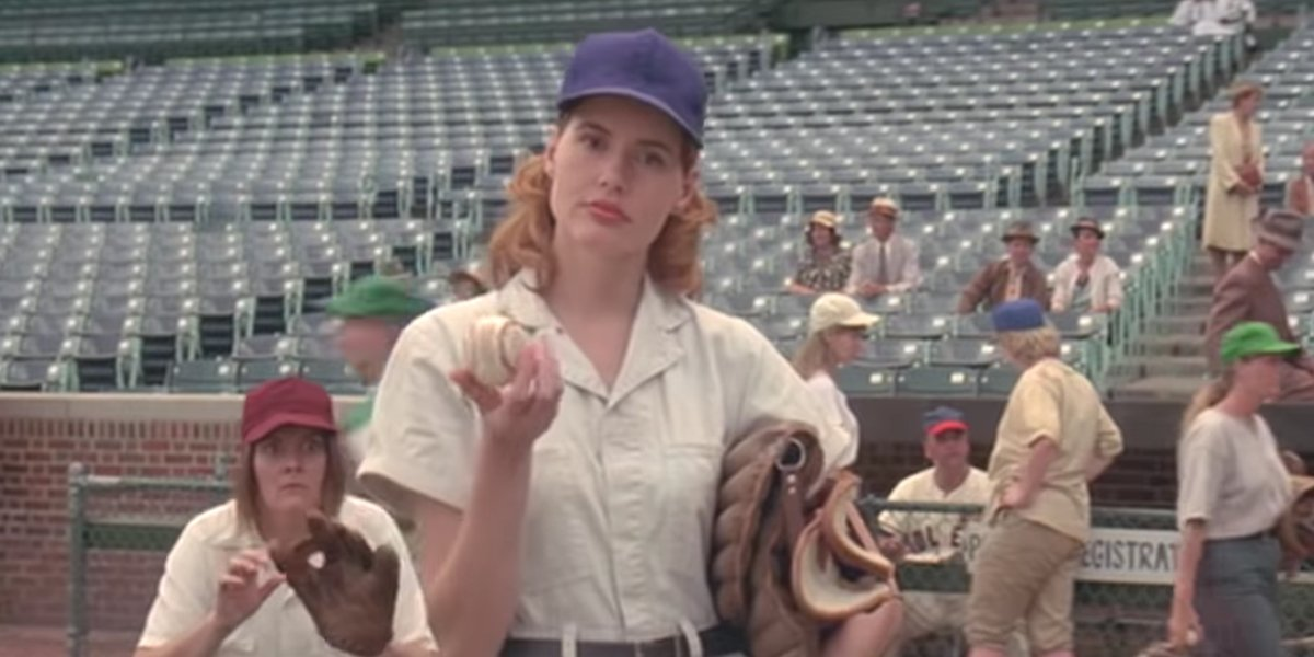 Geena Davis in A League Of Their Own