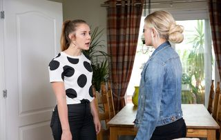Bethany Platt spots the photograph of Neil and Kayla together and demands answers. But can Kayla talk her way out of it?