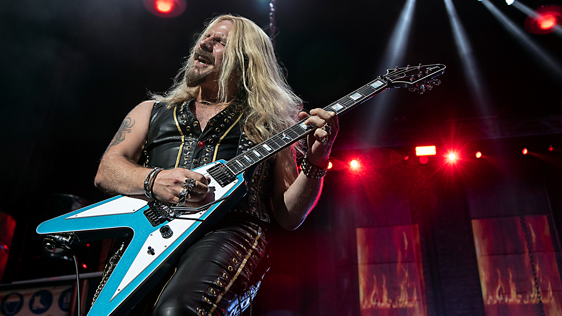 """Judas Priest postpone remainder of US tour as guitarist Richie Faulkner is  hospitalized for """"major medical heart condition issues""""   Guitar World"""