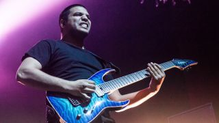 Misha Mansoor of Periphery at The Fillmore on January 26, 2015 in San Francisco, California