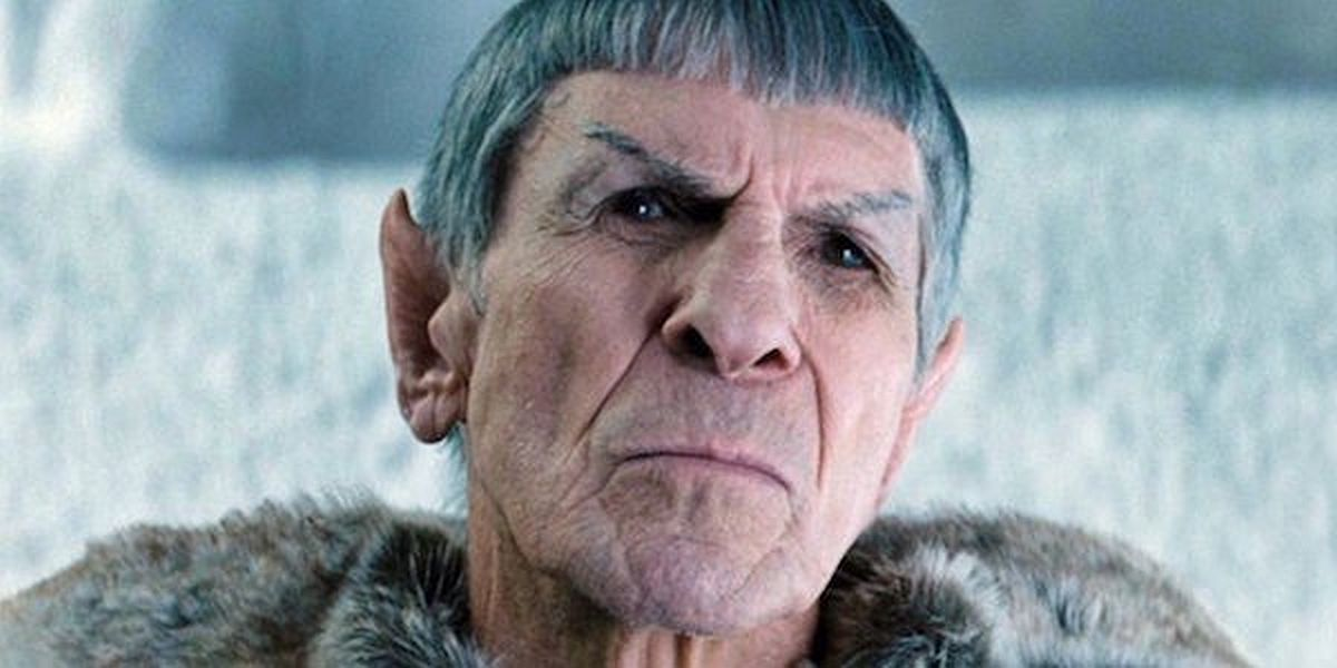 Leonard Nimoy as Spock in the Star Trek reboot