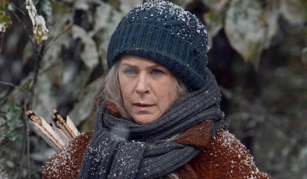 carol in the snow on the walking dead