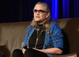 Carrie Fisher at Wizard World Comic Con Chicago in 2016.