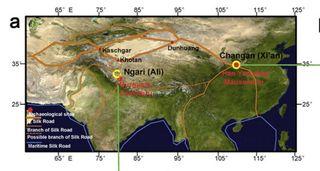 Tibet Silk Road map