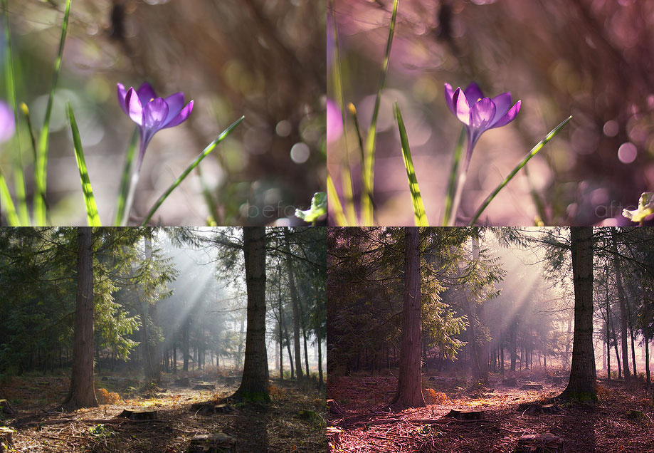 Free Photoshop actions: Mystical Light