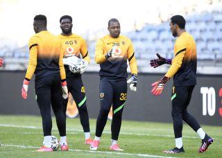 Bruce Bvuma, Daniel Akpeyi, Itumeleng Khune and Brandon Petersen of Kaizer Chiefs