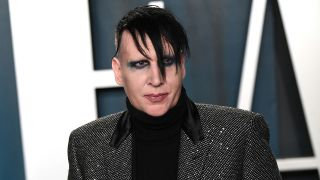 A photograph of Marilyn Manson