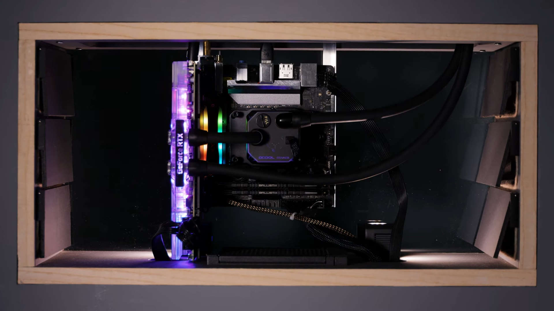 The DIY Perks breathing PC, with bellows cooling system