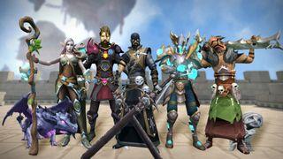 A RuneScape promotional image.
