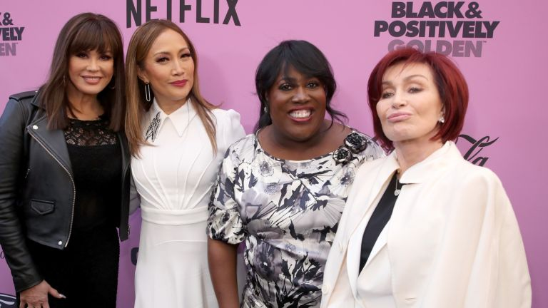 Marie Osmond, Carrie Ann Inaba, Sheryl Underwood, and Sharon Osbourne attend the 2020 13th Annual ESSENCE Black Women in Hollywood Luncheon at Beverly Wilshire, A Four Seasons Hotel on February 06, 2020 in Beverly Hills, California.
