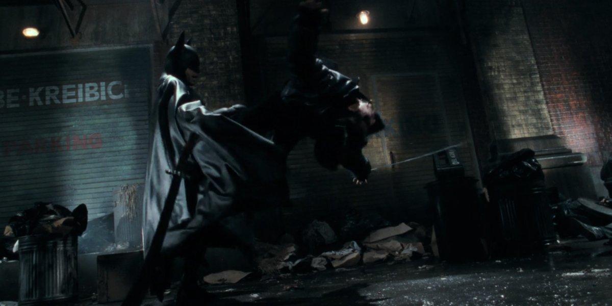Michael Keaton's epic kick in Batman