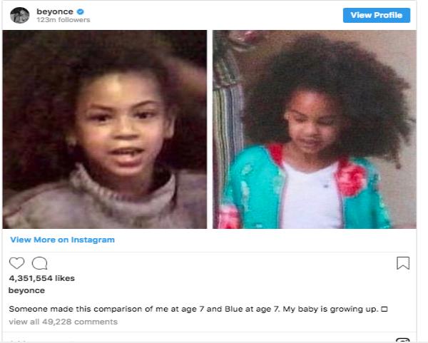 Beyonce Knowles Snapshot Instagram