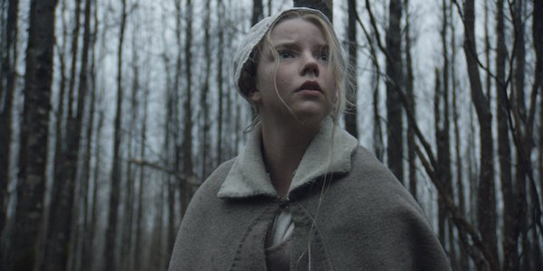 The Witch little girl scared in woods