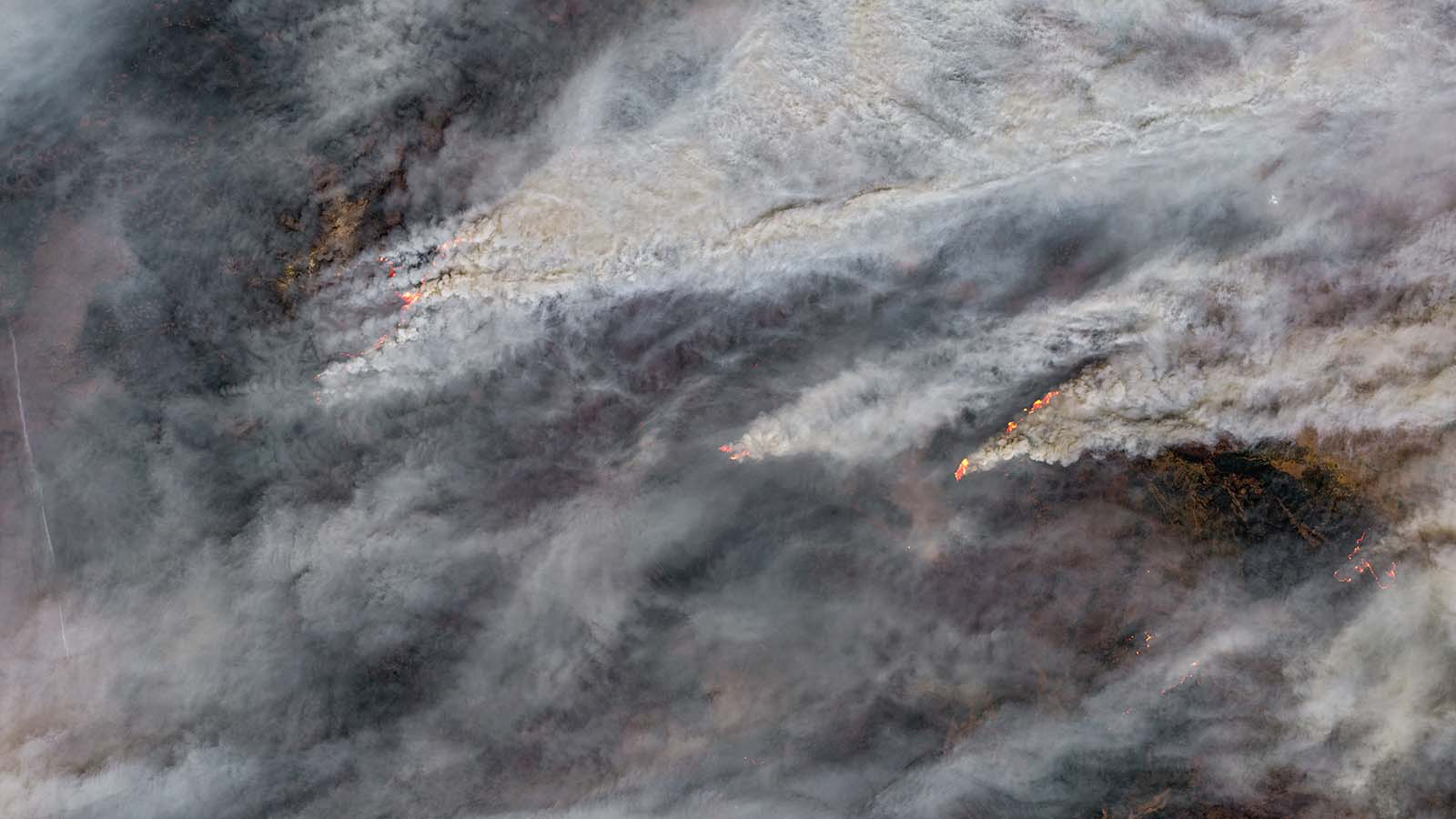 A Color-Enhanced Satellite View Of The Northwest Portion Of The Dixie Fire On August 17, 2021