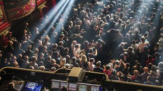A generic shot of a crowd at a gig