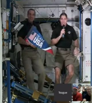 NASA Astronauts Mastracchio and Hopkins Discuss Winter Olympics