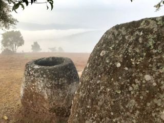 Local legends say the carved stone jars were created by a race of giants to brew rice beer, but archaeologists think they were used in burial rituals