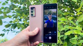 Samsung Galaxy Z Fold 2 review rear camera selfie