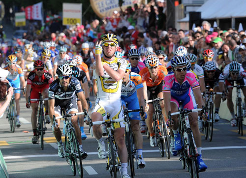 Mark Cavendish wins Tour of Romandie 2010 stage 2