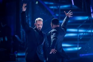 John and Johannes in week one of Strictly Come Dancing