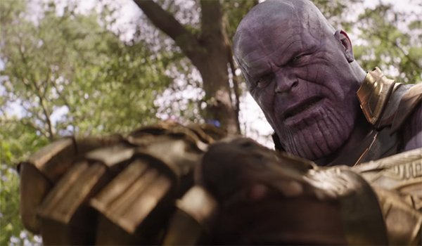 Avengers: Infinity War shows Thanos' Infinity Gauntlet.